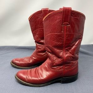 Nocona Western Cowgirl Boots Red Women's Size 5.5B